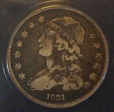1831 25C Capped Bust Quarter Dollar Certified ANACS F12