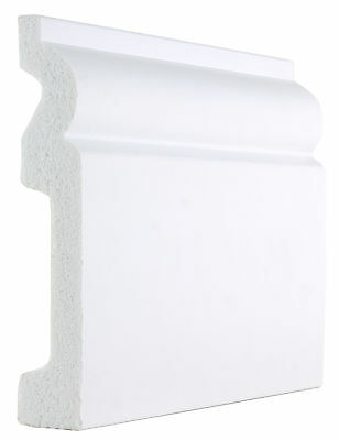 White Plastic PS Torus Skirting Boards -120mm x 20mm x 2900mm