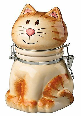 Hand-Painted Earthenware Pretty Kitty Hinged Jar by Boston Warehouse