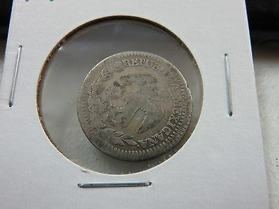 1843 Mexico 2 Reales R2 Silver Coin