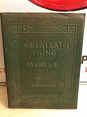 Antique Book 1920's GREATEST THING in the WORLD Little Leather Library Drummond