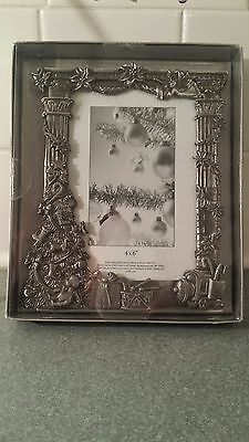 Baby's First X-Mass Metal 3-D Picture Frame 4x6""