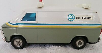 Vintage Toy Van Western Stamping Bell System Telephone Truck Bank Made in Korea