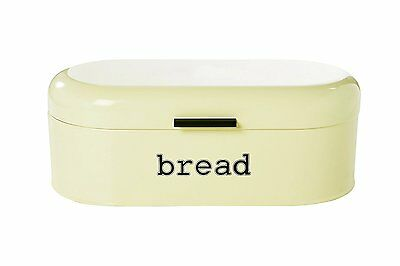 Large Ivory Bread Box for Kitchen Countertop - Bread Bin Storage Container with