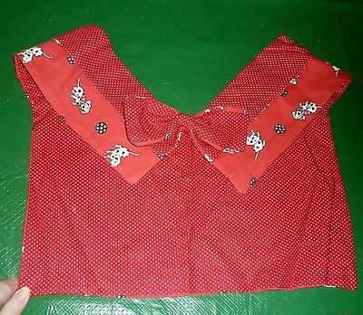 Dalmations on Handmade Faux Collar for shirts; red, black & white w bow tie