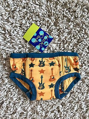 Kickee Pants Fuzzy Bee Guitars Training Pants. Size 2T-3. New With Tags