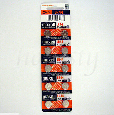 10pcs New Battery For LR44 1.5V A76 L1154 AG13 357 SR44 303 Battery