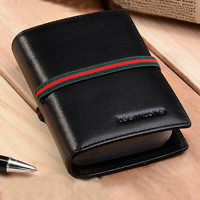 Women Premium Leather RFID ID Credit Card Pocket Elastic Bands Business Wallet