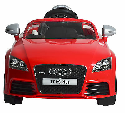 Luxury AUDI TT Remote Control 12V Powered Wheels Ride-On (Red) Free Shipping Now