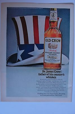 Old Crow Kentucky Straight Bourbon Whiskey Advertisement Vintage Magazine Ad 2