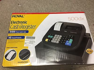 Royal Electronic Cash Register 500dx Used Complete W/ Key