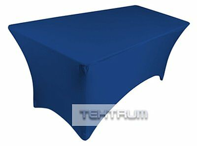 Tektrum 6 Ft Long Rectangular Stretch Tablecloth Dj Jacket Cover For Trade Show