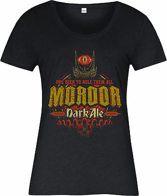 Lord of the Rings Ladies T-Shirt,Mordor Dark Ale Spoof,Inspired design Top
