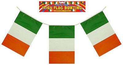 12ft Irish St Patricks Day Bunting Eire Flags Ireland Irish Party Decoration