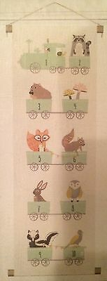 Whimsical Woodland Creature Number Train Canvas Wall Banner Brand New In Package
