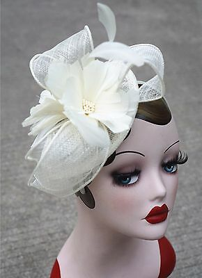 Womens Sinamay Fascinator Cocktail Headband Floral Kentucky Derby Party Hat T227