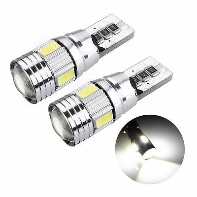 2PC T10 501 194 W5W 5630 LED SMD Car HID Canbus Error Free Wedge Light Bulb Lamp