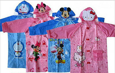 cartoon children raincoat cute raincoat for girl and boy Thickening in backside