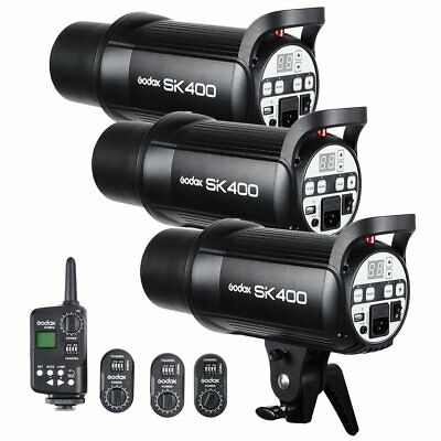 AU 3X Godox SK400 400Ws Photo Studio Strobe Flash Light + FT-16 Trigger Kit