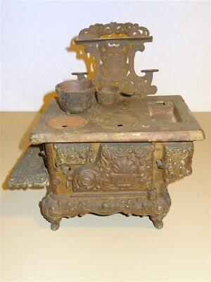 Antique Vintage Royal Kenton Brand Cast Iron Toy Stove Oven