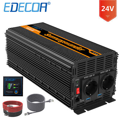 Convertisseur 3000W 6000W DC 24V AC 220V Onduleur Car Power Inverter Sortstart