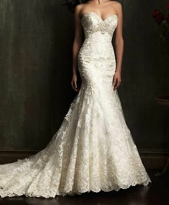 Mermaid White/Ivory Lace Wedding Dress Bridal Gown Size 6 8 10 12 14 16 18 20 22
