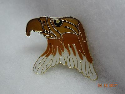 eagle head lapel pin Beautiful shades of brown  Collector item  New