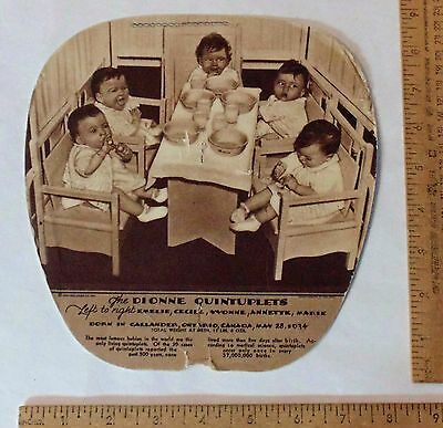 The DIONNE QUINTUPLETS / ELECTROLUX Refrigerator - HAND FAN - DAMAGED - As Is