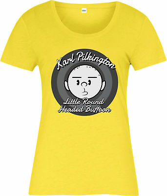 Karl Pilkington Ladies T-Shirt,Idiot Abroad Holiday Gift Spoof
