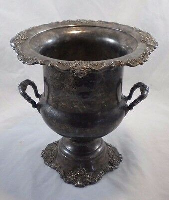 Baroque by Wallace 243 Wedding Champagne Wine Bucket Silverplate Unpolished