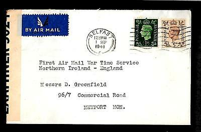 Ireland - 1941 censored first flight to Newport ----------code184