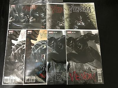 Venom 1 2 3 4 Color & Black White Dell'Otto Variant Cover Set Lot of 8 Marvel