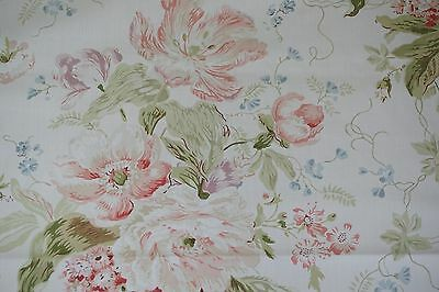 Arthur Sanderson & Sons Fabric ALSACE Floral Cotton Sold by the YARD