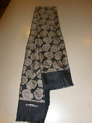Vintage Givenchy Silk Wool Lined Mens Scarf