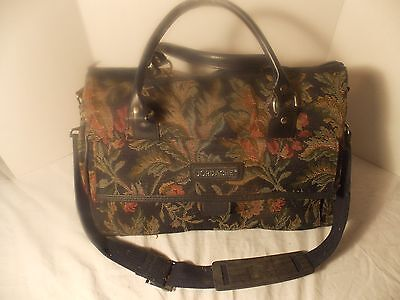 Jordache  Vintage Floral Tapestry Carry on Travel /Overnight Bag Shoulder strap