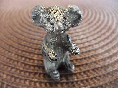"1 1/2""  Unique Very Detailed Pewter Koala Figurine Miniature"