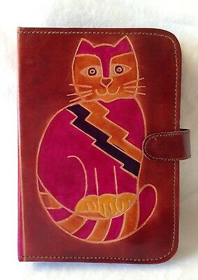 Cat Lovers Leather Date & Address Book