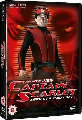 New Captain Scarlet Series 1 & 2 Box Set (8 Discs) NEW DVD