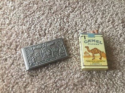 2pc Lot of Vintage Camel Lighter And Money Clip.