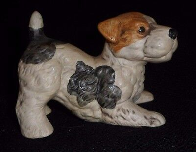 Vintage UCTCI UCCTI Fox Terrier Dog Figurine