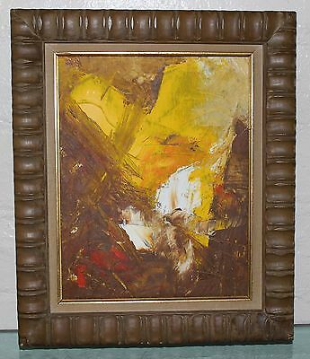 MOD Vintage JENSEN SIGNED Mid Century Modern Abstract Expressionist OIL PAINTING