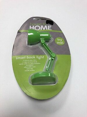 Book Reading  Light with adjustable neck, On/Off switch Desk Light Lamp Green