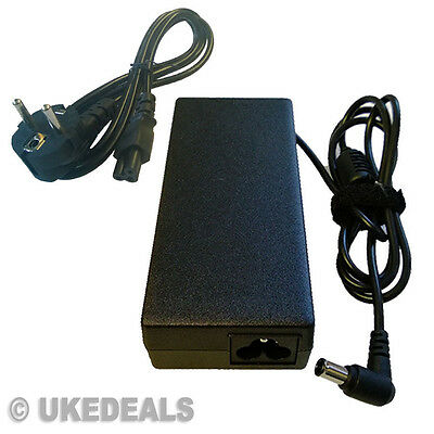 For Sony Vaio Pcg-6R1M Pcg-V505Ac Adapter Charger Psu + Eu Power Cord Uked