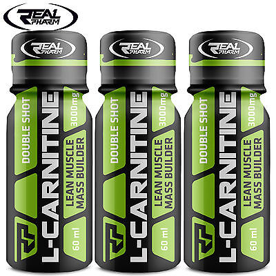 L-CARNITINE Double Shot 1-4 Bottles Fat Burner Turn Fat Into Energy Weight Loss