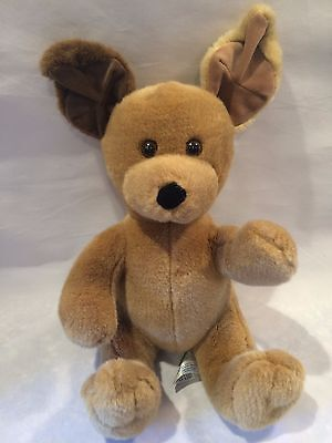 BABW Build A Bear Workshop Plush Dog Puppy Brown Two Tone Stand Up Ears