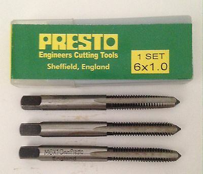 Brand New Presto M6 X 1.00 mm Threading (3 Taps) Set