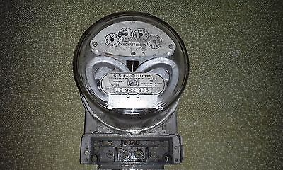GE I-30-A 120v watthour meter Vintage 1940s - 50s used, tested, steampunk-ish
