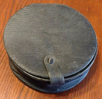 Antique Leather Collar Box with Collars