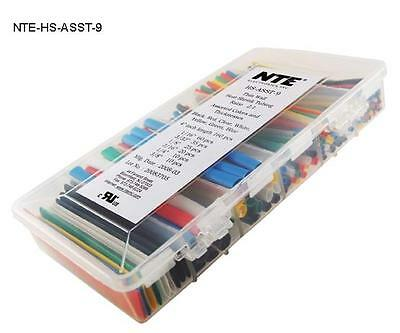 NTE  HS-ASST-9 2:1 Heat Shrink Kit, Assorted Colors and Sizes 160 PCS