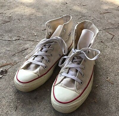 Vintage Made In USA Converse Chuck Taylor Hi Tops White